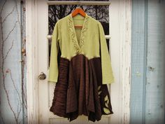 Hey, I found this really awesome Etsy listing at https://www.etsy.com/listing/210287679/sm-woodland-sweater-dress-upcycled