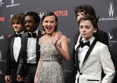 It Looked Like the Stranger Things Cast Stepped Out of a James Bond Movie at the Golden Globes