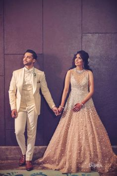 Wedding Reception Outfit, Couple Wedding Dress, Wedding Dresses Men Indian, Indian Bridal Outfits, Bridal Dresses, Pakistani Dresses, Bridal Gown, Indian Dresses, Engagement Dress For Groom