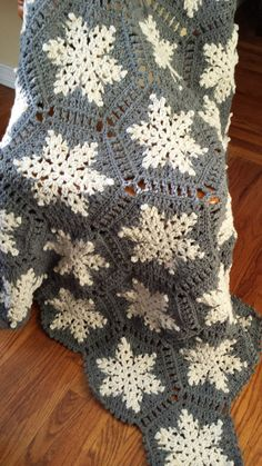 Snowflakes+Afghan+by+lcraft+on+Etsy,+$75.00