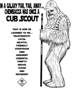 Akela's Council Cub Scout Leader Training: Chewbacca Was Once a Cub Scout in a Galaxy Far, Far, Away ~ Star Wars ~ Blue & Gold Banquet ~ Free Coloring Page Printable