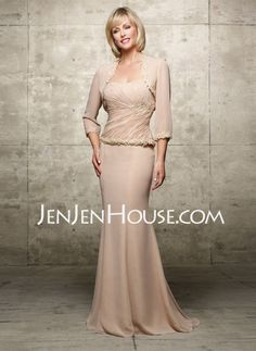 Mother of the Bride Dresses - $153.29 - Mermaid Sweetheart Floor-Length Chiffon  Charmeuse Mother of the Bride Dresses With Ruffle  Lace (008006072) http://jenjenhouse.com/Mermaid-Sweetheart-Floor-length-Chiffon--Charmeuse-Mother-Of-The-Bride-Dresses-With-Ruffle--Lace-008006072-g6072