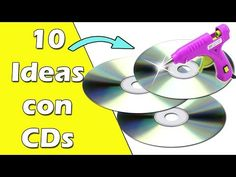10 Ideas hechas con CDs (Reciclaje) Ecobrisa - YouTube Diy Home Decor Projects, Diy Home Crafts, Creative Crafts, Diy Room Decor, Old Cd Crafts, Recycled Crafts, Handmade Crafts, Buzzfeed Gifts, Cd Organization