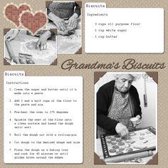Recipe scrapbook -- preserving handwritten recipes (from lovetoknow scrapbooking).  Neat idea.