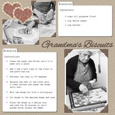 Recipe scrapbook -- preserving handwritten recipes (from lovetoknow scrapbooking). Neat idea.