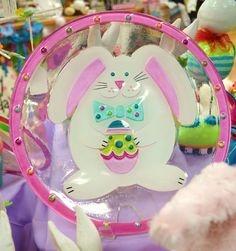 Easter bunny glass fusion plate