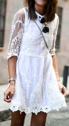 summer dress with half-sleeves