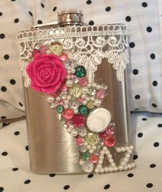 Sorority Flask Delta Zeta by Wrapunzels on Etsy, $30.00 love this but gotta change the letters