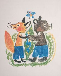 Fox and bear-Reich Károly hungarian illustrator