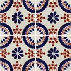 Madrid Border Sevilla Handmade Ceramic Floor Tile