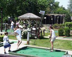 Holiday Hill Mini Golf - Dennisport  Old-fashioned fun with beautiful flowers
