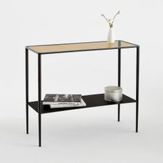 ANYA Half-Moon Metal Console Table AM.The 2 half-moon tops of this metal console table bring soft curves while its metal frame brings clean, simple lines to suit any interior. Console Metal, Marble Console Table, Living Room Modern, Living Room Designs, Consoles, Narrow Table, Small Hallways, Modern Home Furniture, Structure Metal