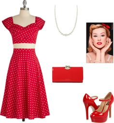 """""""Pin Up Girl"""" by cdablemont-1 on Polyvore"""