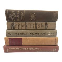 Antique Browns Books - Set of 5 #bookstoread #old #books #to #read