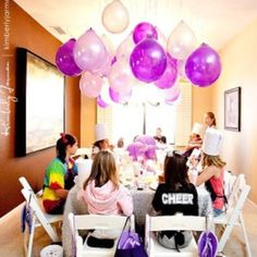 Hang balloons without helium upside down :)