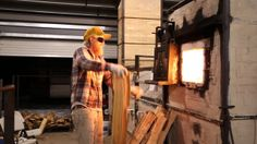 Full Wood Firing VIdeo- Perry Haas firing the train kiln at Red Lodge Clay Center, MT