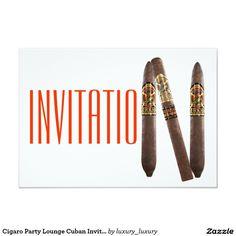 Cigaro Party Lounge Cuban Invitation