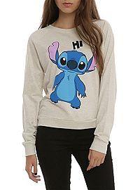 HOTTOPIC.COM - Disney Lilo & Stitch Hi Bye Girls Pullover Top