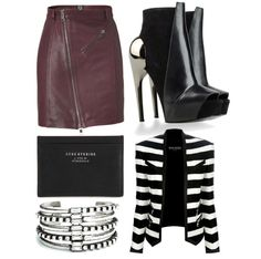 """""""Get Lost in Stripes"""" by rock-with-me ❤ liked on Polyvore"""