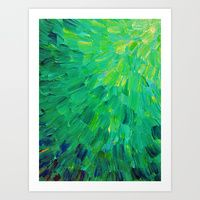 Pattern Art Prints   Society6 / Sea Scales in Green