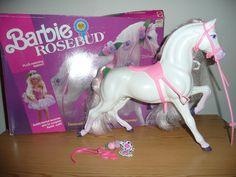 Barbie Horse - Rosebud 1992......not the exact one I had but similar