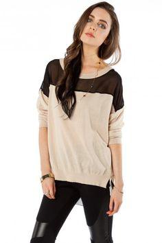 $48  http://www.shopsosie.com/mayhew-contarst-sweater.html