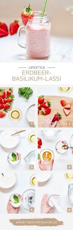 #Rezept #Lassi #Sommer #Yummy Ein fruchtiger Drink wie dieser Erdbeer-Lassi ist perfekt als Snack für zwischendurch. Hier findet ihr das und viele weitere, leckere Rezepte für den Sommer!
