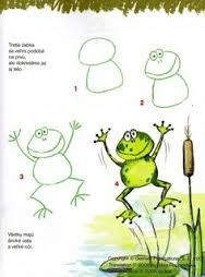 step by step drawing frog for kids - Google Search