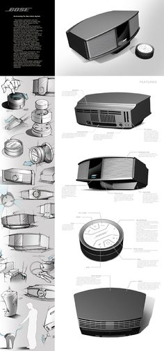 Bose Developement by Zach Hastings industrial design Industrial Design Portfolio, Industrial Design Sketch, Portfolio Design, Sketch Design, Layout Design, Presentation Layout, Product Presentation, Presentation Boards, Beautiful Women Quotes