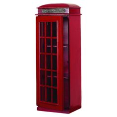 London Phone Booth Bookcase