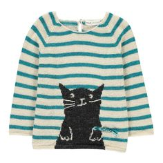 Oeuf NYC Cat Stripe Alpaca Wool Smallable x OEuf Exclusive Jumper-product