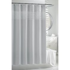 @Overstock.com - Spa Blue Smocked Pleats Shower Curtain - The Cortina Smock Pleat Shower Curtain is made of 85 GSM 100-percent polyester with pleat details on the top border. This curtain comes in a beautiful spa blue color.  http://www.overstock.com/Bedding-Bath/Spa-Blue-Smocked-Pleats-Shower-Curtain/7818587/product.html?CID=214117 $28.34