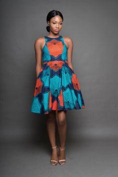 Doja Dress from Diyanu - Ankara Dresses, Shirts & African Fashion Ankara, African Inspired Fashion, Latest African Fashion Dresses, African Print Fashion, Ankara Dress Styles, African Print Dresses, African Dress, African Prints, Ankara Gowns