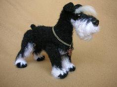 Project by Monetka L. Miniature Schnauzer dog crochet pattern by Tatiana Chirkova for LittleOwlsHut #Dog #Schnauzer #miniature #DIY & Crafts #Chirkova #Kanareyka #LittleOwlsHut #amigurumi #toy #crochet_pattern