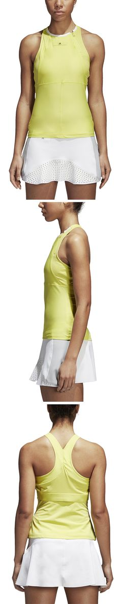 Adidas introduces the newest women's Stella McCartney tennis collection for tennis players in need of high-performance style. adidas introduces the newest styles of premier tennis tanks, tops, skirts, and dresses perfect for the spring tennis season. Shop more adidas Stella McCartney at MidwestSport.com.