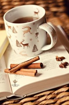 .A hot drink to warm you up on a cold winter night.