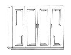 New Art Deco bedroom freestanding & built-in 2 3 & 4 door wardrobes Built In Bedroom Cabinets, Bedroom Built In Wardrobe, Wardrobe Doors, Art Deco Living Room, Art Deco Bedroom, Cupboard Door Design, Chiropractic Office Design, Wardrobe Door Designs, Art Deco Mirror