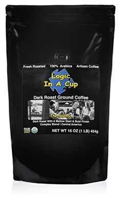 Super Strength Dark Roast Ground Coffee Certified Organic  Fair Trade by Logic In A Cup Beans from Central America Enjoy a Fresh Mug of Coffee at Home The Gadfly 1 lb *** Continue to the product at the image link.-It is an affiliate link to Amazon.
