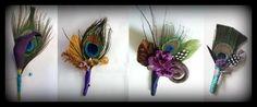 diy peacock wedding | DIY: Peacock Boutonnieres