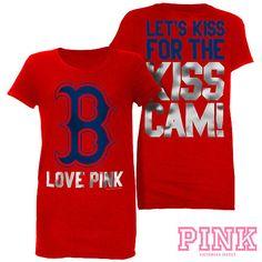 I WANT THIS!!!  Boston Red Sox Victoria's Secret PINK® Kiss Cam Tee - MLB.com Shop