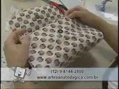 Patchwork Ana Cosentino: Bolsinha Porta Maquiagem - YouTube