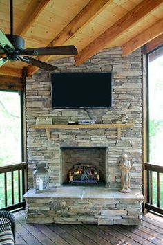 Stone Veneer Fireplace - West Mt. Field & Ledge Pinnacle Stone ...