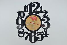 Vinyl Record Wall Clock artist is Eric Clapton by vinylclockwork, $23.00