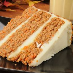 This recipe for Carrot Cake With a Cream Cheese Frosting requires very basic ingredients and you can make as a 2 or 3 layer cake.