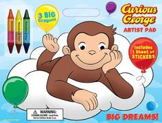 Bendon Publishing Curious George Big Dreams! Artist Pad with Crayons Bendon Publishing http://www.amazon.com/dp/1403763291/ref=cm_sw_r_pi_dp_oBVJub0Z5H7YC