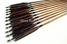 71.99$  Buy here - http://aligm6.worldwells.pw/go.php?t=32223839083 - 12PK Japan Traditional Gray Feathers Self Nock Bamboo Arrows For YUMI Bow YMGBT2 71.99$