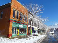 Downtown Logan, Utah, USA