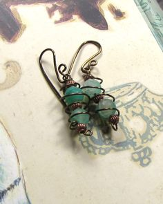 Dragon vein agate dangle earrings