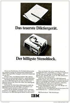 Original-Werbung/ Anzeige 1967 - IBM DIKTIERGERÄT - ca. 180 x 240 mm