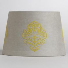 Gray & Yellow Flower Accent Lamp Shade